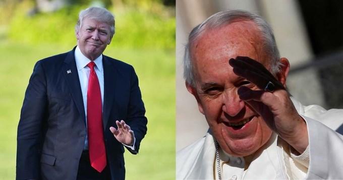 Trump quiere visitar al papa Franciso en Roma