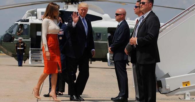 Trump comenzó su primera gira internacional y se reunirá con Francisco