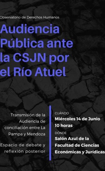 """Transmision en Vivo del Salon Azul Jornada: """"Audiencia Pública por el Río Atuel"""