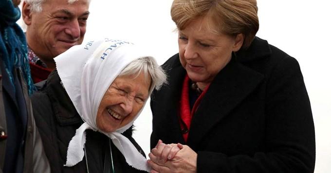 El conmovedor pedido de Madre de Plaza de Mayo a Merkel