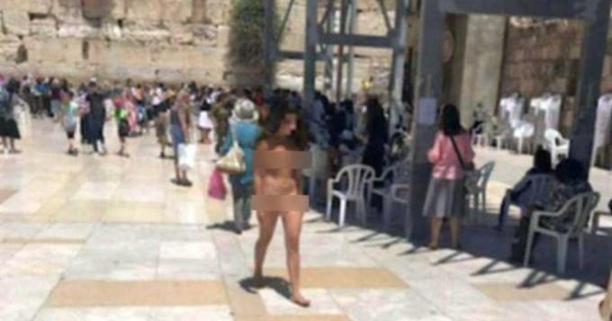 Mujer se desnudó en el Muro de los Lamentos: acabó arrestada