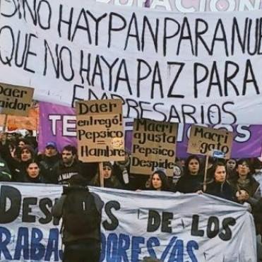 JORNADA NACIONAL EN APOYO A LOS TRABAJADORES DE PEPSICO