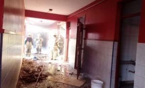 Destruido: así quedó el colegio que explotó en Moreno