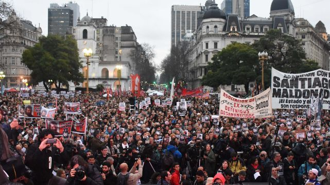 Marcha a Plazo de Mayo por Santiago Maldonado
