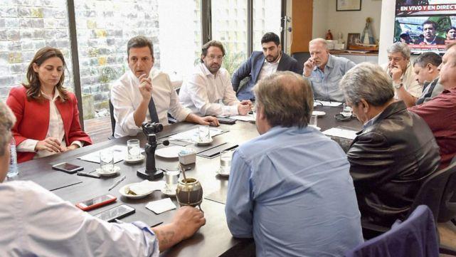 Massa recibió a representantes de la Corriente Federal de Trabajadores
