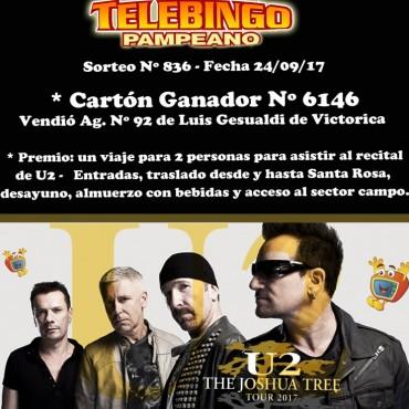 Se busca el ganador del sorteo para el recital de U2 salió en Victorica Agencia