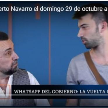 El Domingo 29 regresa Roberto Navarro por el portal El Destape.