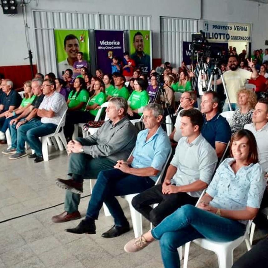 Victorica: Acto del P.J en el Club Cochicó con la presencia de sus candidatos.