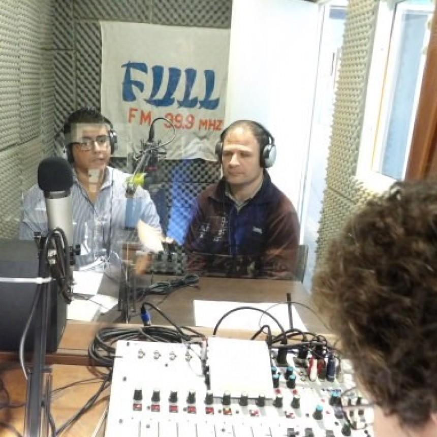 Candidatos de Alianza Sergio Caligiuri y Dario Perez Echegaray  en FM Full