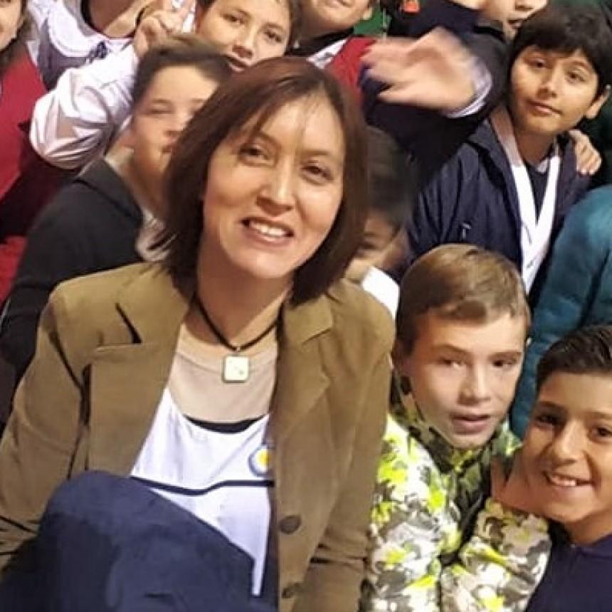 Directora del Instituto San Juan Bosco de Victorica Nivel Primario: Alejandra Anita KENO se refiro a la semana de los pueblos indígenas