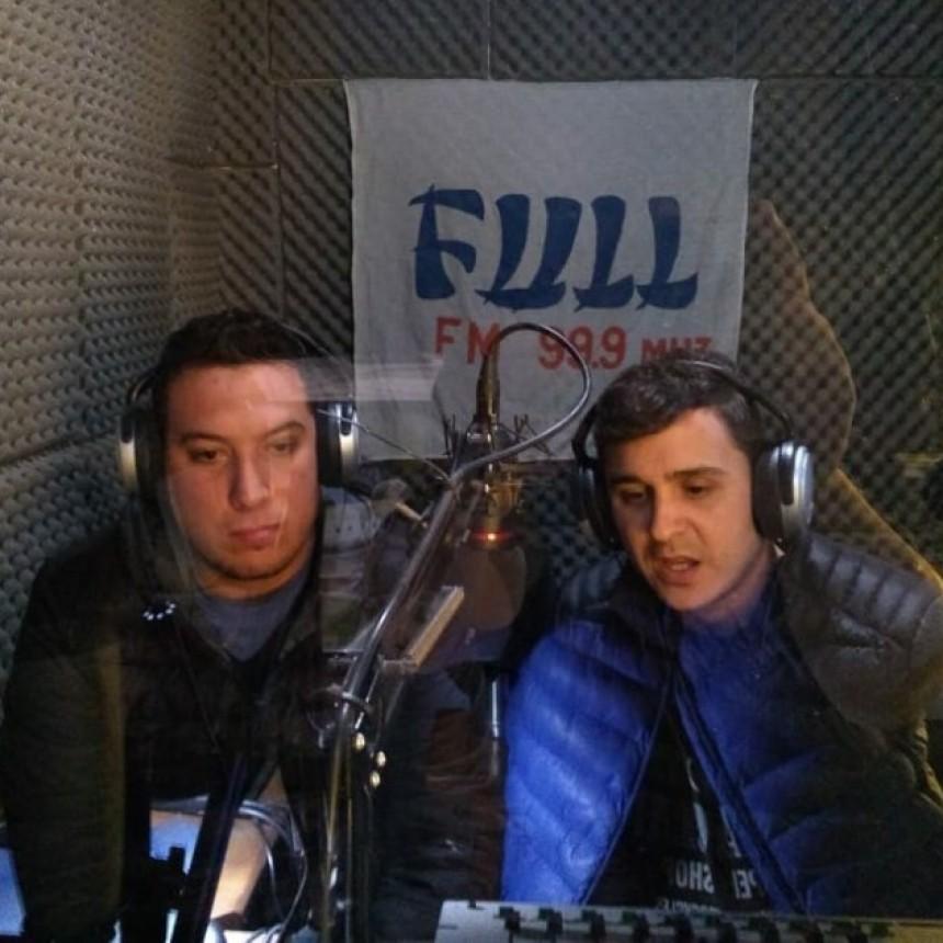 Los Candidatos del FREJUPA a Intendente Miguel Villagra y  Vice Diego Diaz  en FM FULL Victorica