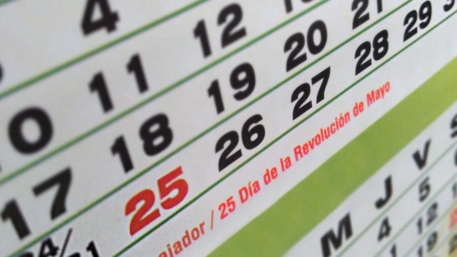 Lunes 25 de Mayo es Feriado Nacional