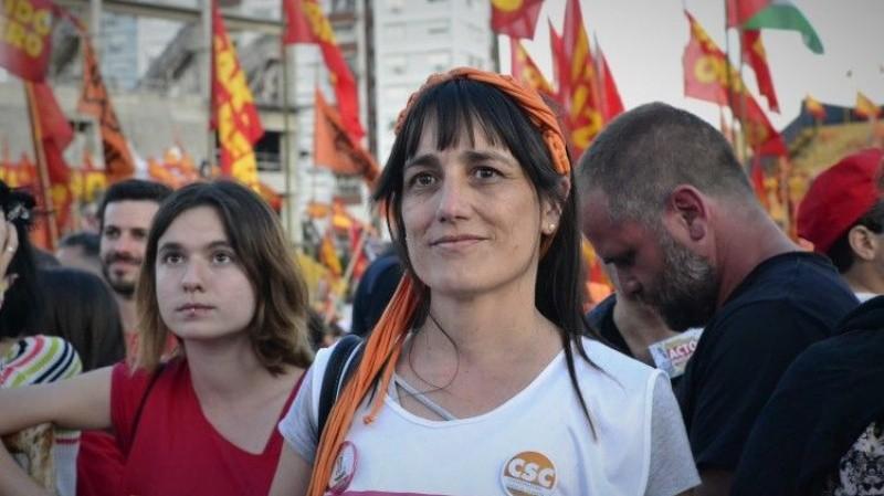 Visita Romina Del Pla a Santa Rosa Diputada del Partido Obrero